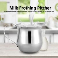 Stainless Steel Coffee Cup Frothing Milk Latte Jug Fancy Foam Pitcher 90/240ml D