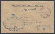 British Solomon Islands 1962 OHMS cover to UK