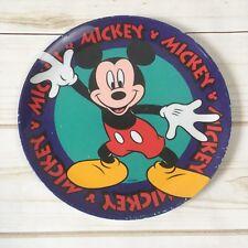 Vintage Mickey Mouse 8 in. Plastic Dinner Plate Zak Design