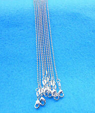 "Wholesale 10PCS 18"" Fashion Jewelry 925 Silver Plated Beads Necklaces Chains"