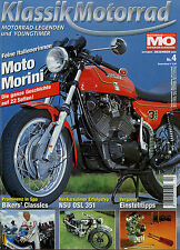 Klassik Motorrad 4/04 2004 NSU OSL 351 Morini 3 ½ Yoshimura Bergrennen MV Agusta