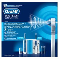 Braun Oral-B Oxyjet + PRO 2000 Dental Center Munddusche + elektr. Zahnbürste