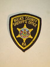 Vintage Bucks County PA Sheriff's Office Police Dept Embroidered Iron On Patch