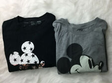 Disney Collection Mickey Tees Lot 2 Sz 2Xl EUC One By Neff Short Sleeve Q14