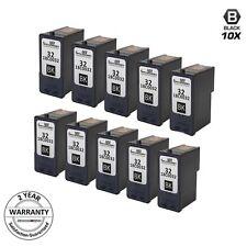 10PK Reman #32 18C0032 BLACK Inkjet for Lexmark P4330 P915 Z816 Z818 X3330 X3350