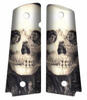 Custom Full Size 1911 Grips Ambidextrous Salvador Dali Skull Love Piero