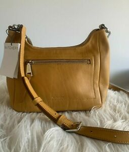 WITCHERY : new! BUTTERSCOTCH leather sling crossbody bag leather handbag CR LOVE