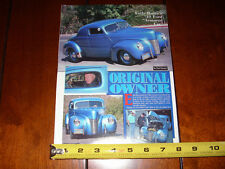 1940 FORD EARLE BRUCE FLATHEAD HOT ROD - ORIGINAL 1992 ARTICLE