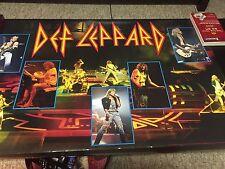 Vintage Def Leppard 1988 Hysteria Tour Poster/Savage Elloit Still Sealed