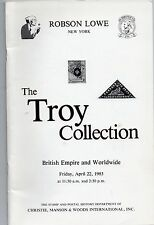 Robson Lowe  The Troy Collection British Empire & Worldwide  A/C 6/83