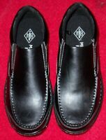 ST JOHNS BAY THUNDER MENS  BLACK CASUAL LOAFERS SHOES SIZE 10 MEDIUM