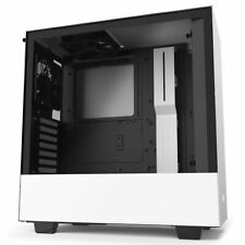 NZXT H510, White, Mid Tower Chassis w/ Tempered Glass Window, 2x 120mm Fans, USB