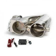 "2.5""/3"" Electric Exhaust Dump Cutout E-cut Out Bypass/Switch Dual-Valve System"