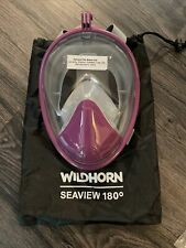 WildHorn Outfitters Seaview 180 Degree Panoramic Snorkel Mask - Purple