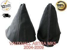 VAUXHALL ASTRA MK5 H 2004-2009 in pelle Gear & Freno A Mano Ghetta COPERCHIO BIANCO ST