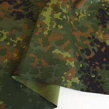 Bundeswehr Camouflage Baumwoll-Stoff Tarndruck Flecktarn Meterware Tolko