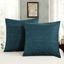 Teal Green Solid Color European Pillowcases Cushion Covers Square 65x65cm 2 Pcs