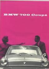 1960 BMW 700 Coupe Sales Brochure