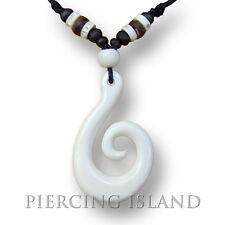Tribal Amulett Knochen Anhänger Halskette Maori Bone PB188
