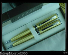 Cross Limited Edition Elite Sage Pearlescent Golden Honey Pen & 0.7MM Pencil Set