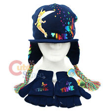 Disney Tinkerbell Gloves Lapland Beanie Set Rainbow Butterfly (Kids-Teen)