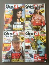 4 magazines Gen4 - numeros: 128/130/131/132 - cd-rom présents - 2000
