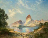 An Indian Paradise Thomas Moran Fine Art Print on Canvas Repro Giclee Small 8x10