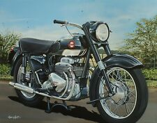 "Ariel Square Four  Motorcycle Art Mini Print 10"" x 8"" Mounted"