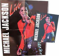 Michael Jackson Livre LIVE Bad Tour English British UK Book Poster 1988