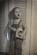 "Cutest Photo Mommy I found daddy's Playboy Oh Oh Black & WHite 1950's 5"" x 7"""