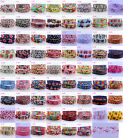 "2Yds 22mm-7/8"" Cartoon Flowers Printed Grosgrain Ribbon Free shipping DIY Bow"