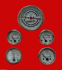 Allis Chalmers D17 Diesel Only Tachometer+Temp+ Oil Pressure+ Fuel+Amp Gauge Set