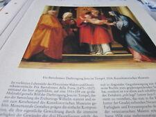 Viena archivado 4 4033a fra Bartolomeo darbringung de Jesús en el templo 1516