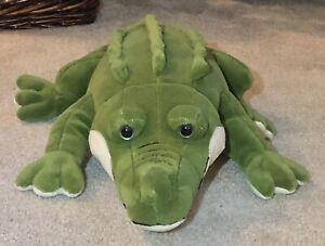 """TOYS R US Alligator Crocodile 24"""" Plush Stuffed Animal-Realistic Looking-EUC!"""
