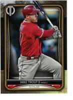 Mike Trout 2020 Topps Tribute 5x7 Gold #1 /10 Angels