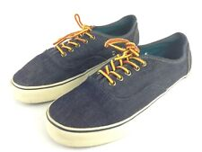 f715deb25737 euc American Eagle Mens 10 Denim Lace Up Low Top Casual Slip On Loafer Shoes