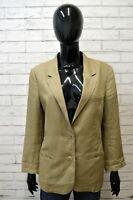 Giacca 100 % Lino Blazer Donna MARELLA Taglia Size 48 Jacket Woman Cappotto