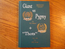 FRED BARGE GIANT VS PYGMY CHIROPRACTIC BOOK  139 of FIRST EDITION SIGNED