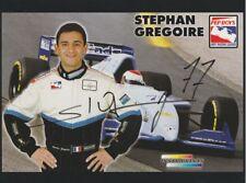 1998 Stephan Gregoire signed Chastain Motorsports Oldsmobile Indy Car postcard