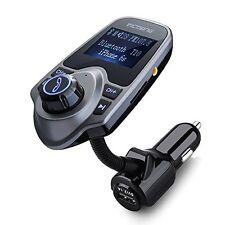 VicTsing Bluetooth FM Transmitter, Wireless In-Car FM Transmitter Radio Adapter