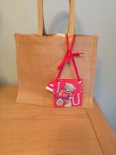 Jute Gift Bag With a I ❤️U Wooden Tag