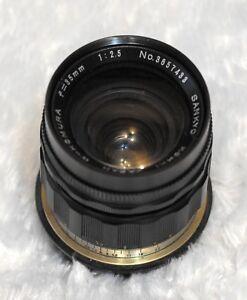 Sankyo Kohki W Komura 35mm f/2,5  lens Canon EOS mount MF lens