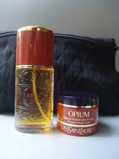 YSL Opium Vintage 90s EDT 30ml + 30ml Body Creme + Makeup Bag New gefaltet Box