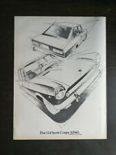 Vintage 1969 Fiat 124 Sport Coupe Full Page Original Color Ad
