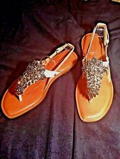 Vera Wang Avy Light Jeweled Thoung Sandal Shoes Mismatch NEW $225