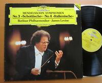 DG 427 670-1 Mendelssohn Symphony 3 & 4 James Levine Berlin Philharmonic NM/VG