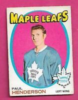 1971-72 OPC # 67 LEAFS PAUL HENDERSON EX  CARD  (INV# C9541)