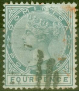 Dominica 1886 4d Grey SG24a Malformed CE in Pence Ave Used