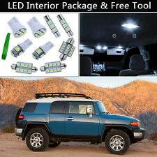 6PCS White LED Interior Car Lights Package kit Fit 08-2014 Toyota FJ Cruiser J1