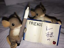 """Charming Tails """"You'Re A Friend In My Book"""" Signed By Dean Griff"""